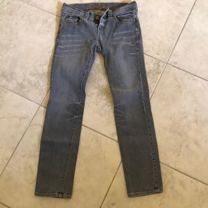 Old Navy Jeans - Special ed. old navy gray straight stretch jeans 8